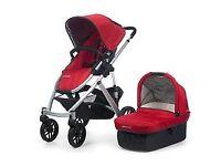 Uppa Baby Vista Red Pram/Stroller & Accessories