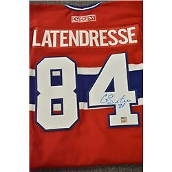 Montreal Canadien Hand Signed Guillaume Latendresse Jersey & COA