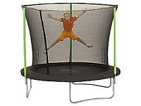 8 Foot plum Trampoline Brand New with enclosure