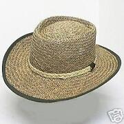 Mens Straw Hat Gambler