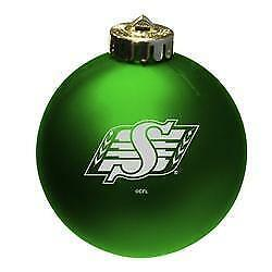 Saskatchewan Roughriders Shatterproof Christmas Ornament (New)