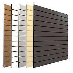 Slatwall Panels - New - High Quality - Multiple Colors