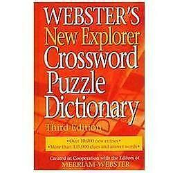 Websters Crossword Puzzle Dictionary