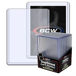 """BCW 3""""x4"""" 240pt Trading Card Toploaders 10 Count Pack"""