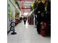 Men's & Ladies clothing business for sale, Oldham indoor market