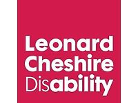 Volunteers needed for our charity Leonard Cheshire Disability