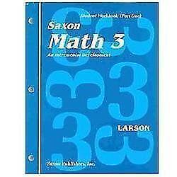 Saxon math 3 textbooks education ebay saxon math 3 workbook fandeluxe Image collections