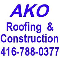 Flat roof,Pitched roof, skylight,eavestrough,soffit,416-788-0377