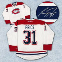 Carey Price Autographed Montreal Canadiens White Hockey Jersey