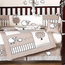 Jojo Baby Nursery Crib Set & Decor Sheep Themed Infant Toddler