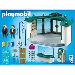 Playmobil bank set with safe and atm