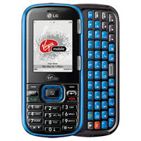 Virgin QWERTY CDMA Mobile LG 265 Rumour 2 Cell Phone + wires