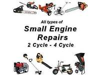 Small engine repairs and servicing