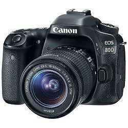 Canon EOS 80D W/18-55mm IS STM Lens
