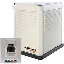 Used Generac CorePower 7KW Generator, Installed