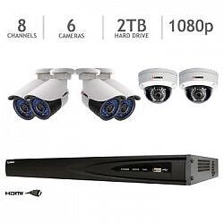 Lorex 8 cameras HD et enregistreur 2 To / 2 Tb DVR + 8 hd cams