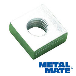 SQUARE-ROOFING-NUTS-M8-x-13-x-5MM-Thread-Sides-Depth-ZINC-PLATED-Qty-25pcs