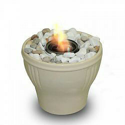 BRAND NEW! Gel Fuel Fire Pot Cream with Snuffer Tool