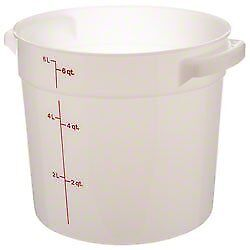 Cambro RFS6148 White Poly Round 6 Qt Storage Container