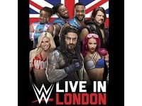 WWE Live at the o2 7th September ticket FOR SALE