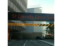 Cardiff city center st david's car parking space to rent 24 hours security.