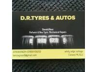 Partworn & new tyres cars van 4x4