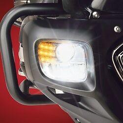 NEW 12-16 HONDA GL1800 GL 18 GOLDWING SHOW CHROME TRIDIUM RECT LED FOG LIGHT KIT