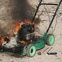 Free removal of unwanted lawnmower