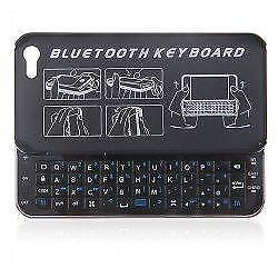 Ultra-thin Bluetooth Wireless Keyboard Sliding Cover Case for Apple iPhone 5 5s - Black