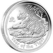 1 oz Tiger Silver Coin