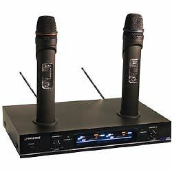 PylePro (PDWM3000) Dual VHF Rechargeable Wireless Microphone System