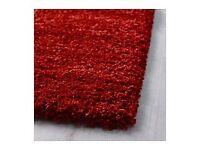 Ikea red rug