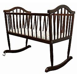 Solid wood, Baby rocking crib (up to 6 months)