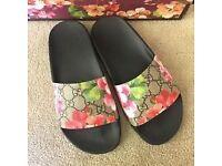 Gucci slider flip flops