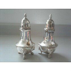 Antique Poole Silver Plated Shakers