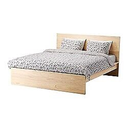 Ikea Queen Malm Bed + Desk....