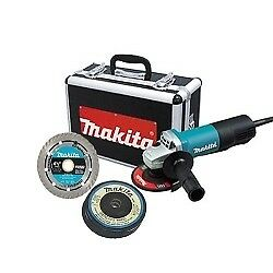 MAKITA 9557PBX1 - 4-1/2 in. Paddle Switch AC/DC Angle Grinder with Case and Grin