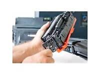 Printer cartridge refilling service. Laser toner cartridge remanufactured