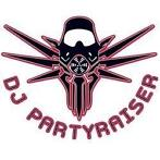 Partyraiser White with red Sticker