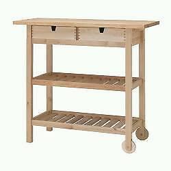 IKEA Forhoja kitchen trolley with baskets