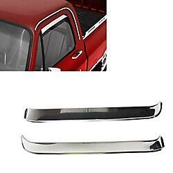 73-87 chev truck stainless door window visor
