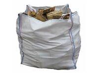 1 Ton bag of firewood logs