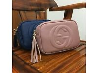 Women's GG Handbag Crossover Shoulder Bag Pink Blue