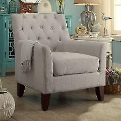 New, Clara Tufted Armchair Color: Beige C13 (1-B) *PickupOnly