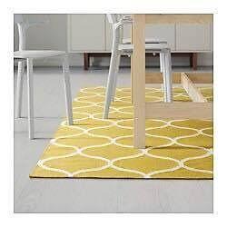 Yellow Carpet STOCKHOLM- rug, flat woven - 4 sqm