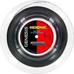 GENESIS HEXONIC BLACK 1.18 TENNIS STRING REEL , 200 M , NEW