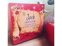 Red Christmas Eve Box Gifts Frames UK