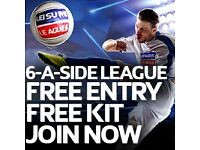 ** SPACES AVAILABLE – FREE KITS & FREE ENTRY - JOIN NOW!! ****WESTON SUPER MARE 6 ASIDE LEAGUE**