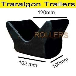 Boat-trailer-jet-ski-trailer-V-shape-roller-skid-rubber-bow-stop-winch-post-G88