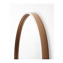 Ikea SKOGSVÅG Mirror, white, beech veneer with hanger. Albany Creek Brisbane North East Preview